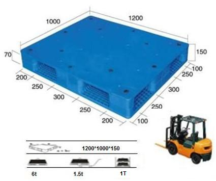 Plastic Pallet with Smooth Surface. Double-Faced. Stackable.