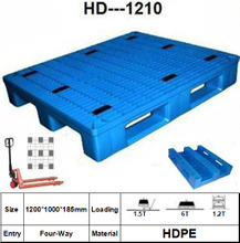 Plastic Pallet with 3 Paralled Bar Structure in Bottom, Rackable, Grid-1
