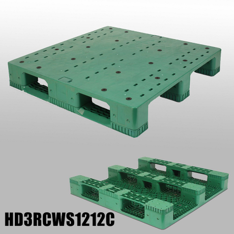 HD3RCWS1212C 1200*1200*150 mm 3 Runners closed deck plastic pallet