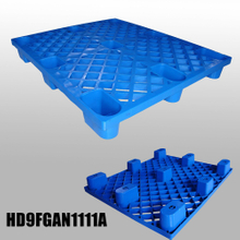 L1100*W1100*H140m nestable plastic pallet with 9 fee & grid deck