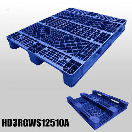 Injection Pallet Industry Plastic Pallet with 3 Runners