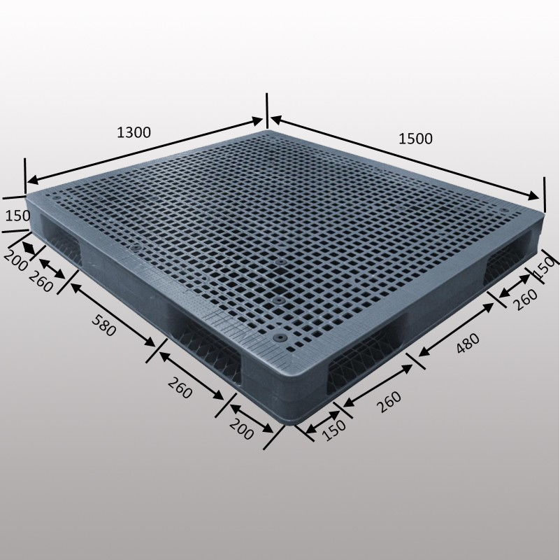 HDDFGNS1513B 1500*1300*150 mm plastic pallet with Grid & double-faced
