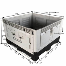Collapsible Hdpe Plastic Pallet Box for Transportation And Storage