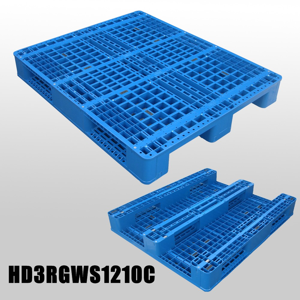 1200*1000*150 mm Industry plastic pallet with 3 runners and mess deck