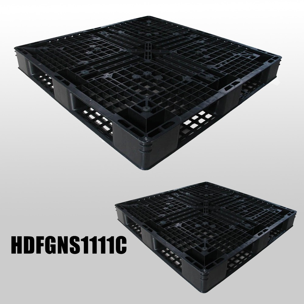 1100*1100*125mm plastic pallet with full perimeter bottom and open decks