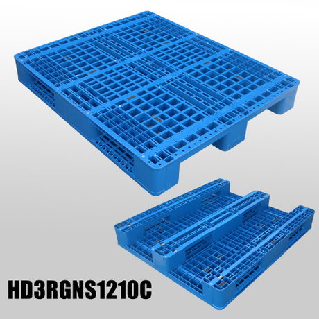 1200*1000 Three Runners Open Deck Export Industry Plastic Pallet
