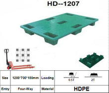 Plastic Pallet with 7 Legged Support, Nestable, Smooth Surface (L1200*W700*H150MM)