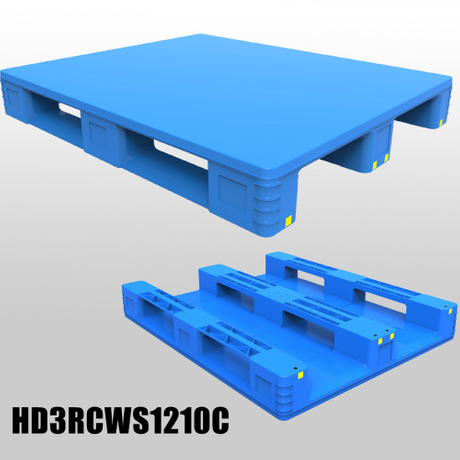 1200*1000*150/170/180mm 3 Runners closed deck hygeian plastic pallet