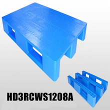 1200*800 Three Runners Closed Deck Blue Heavy Duty Plastic Pallets