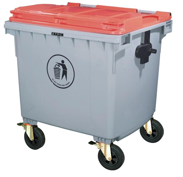 Recyclable 660L Plastic Dustbins