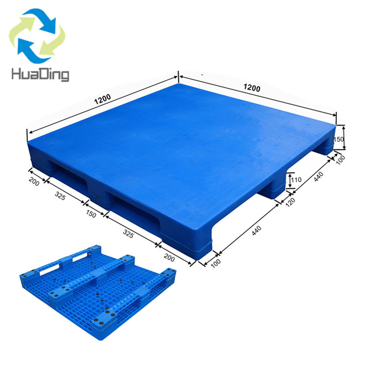 1200*1200 Three Runners Close Deck Export Stackable Plastic Pallet