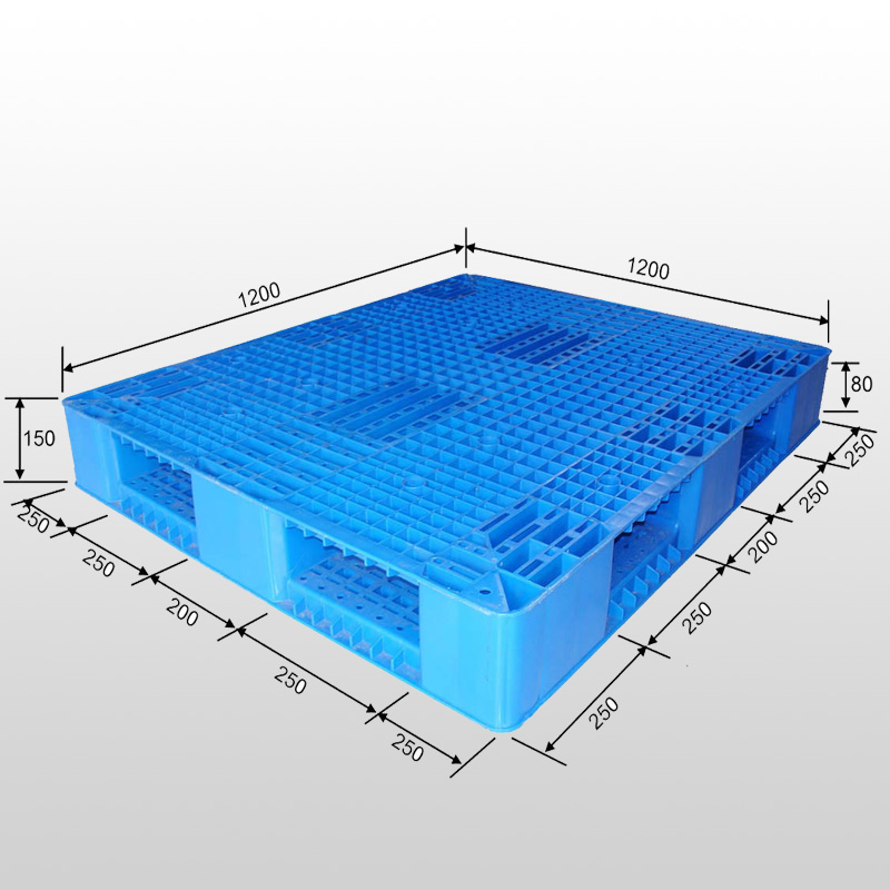 Double-faced Stackable plastic pallet L1200*W1200*H150
