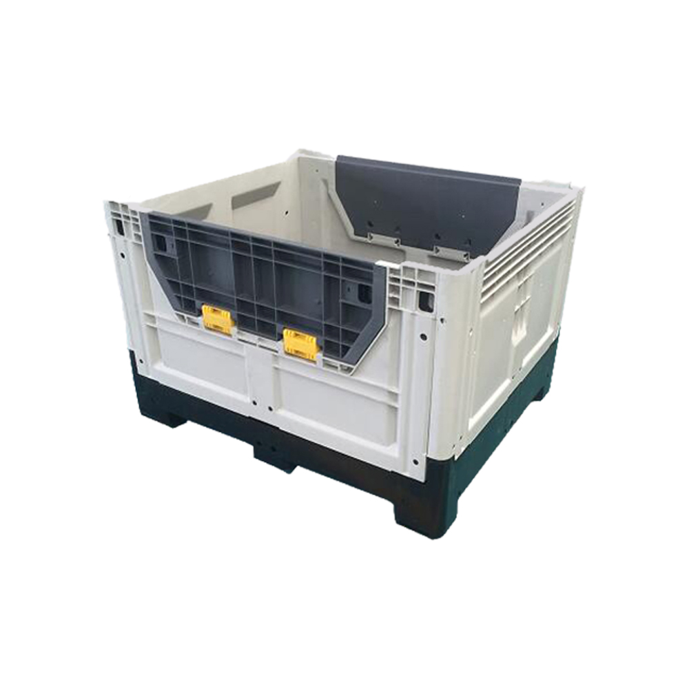 Stackable And Reusable Closed Plastic Collapsible Crate for Transportation And Storage