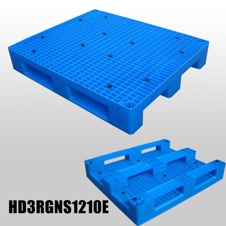 1200*1000*175 mm heavy dutyplastic pallet with 3 runners and mess deck