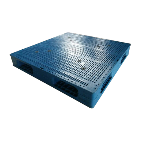 1100*1100 Full Perimeter Single Face HDPE Storage Plastic Pallets
