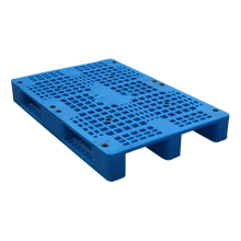 1200*800 Three Runners Hdpe Blue Plastic Pallet
