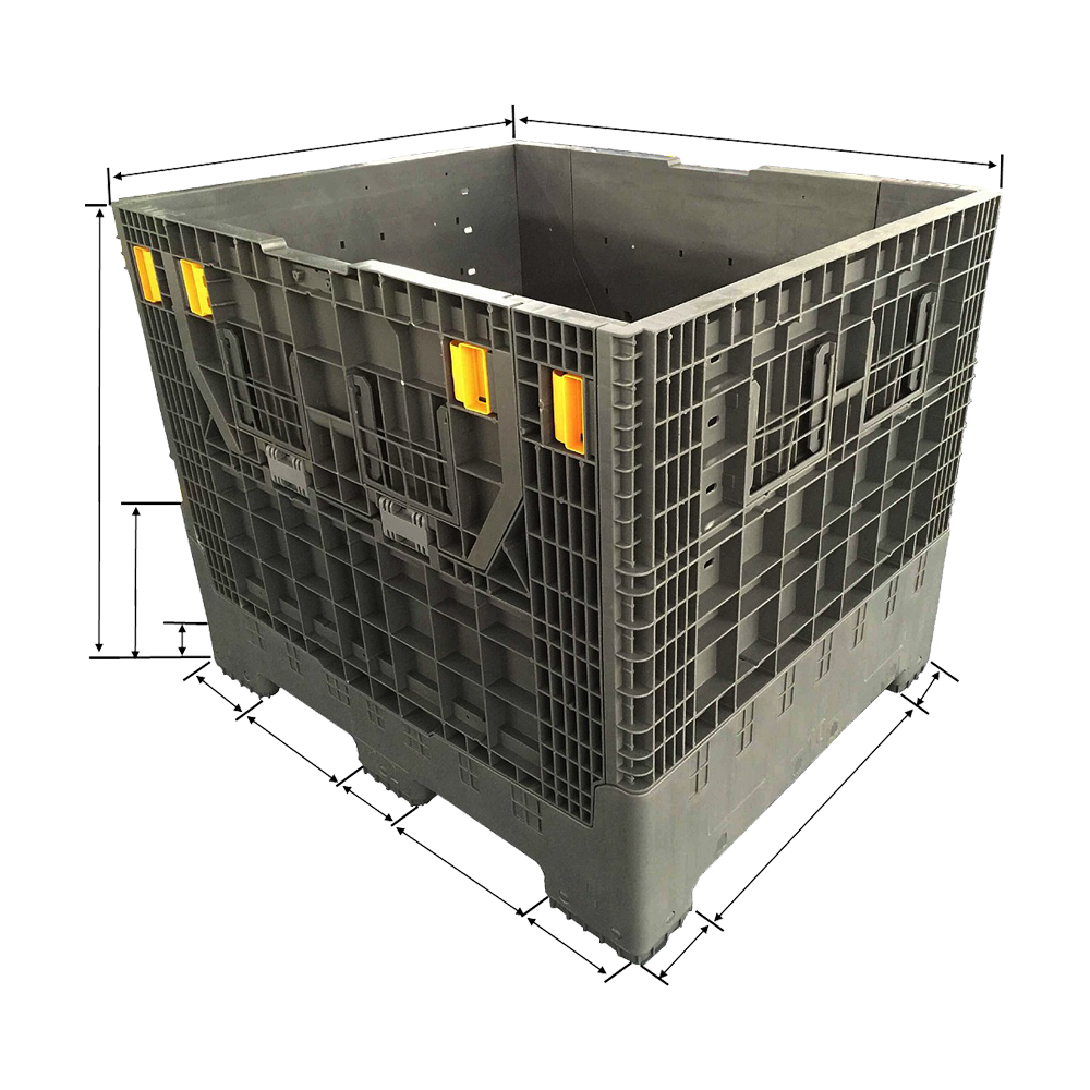 1200*1000*1000 Heavy Duty Hard Plastic Pallet Box Container