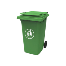 Large Kitchen Garbage Can with Lid Moving Garbage Bin
