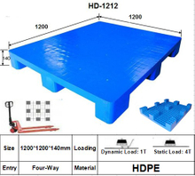 Plastic Pallet with 9 Legged Support, Smooth Surface. Heavy-Duty