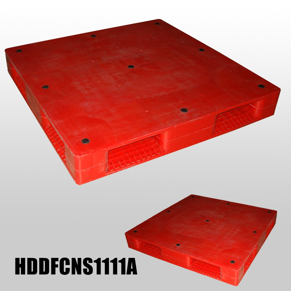 L1100*W1100*H150mm Double faced closed deck plastic pallet