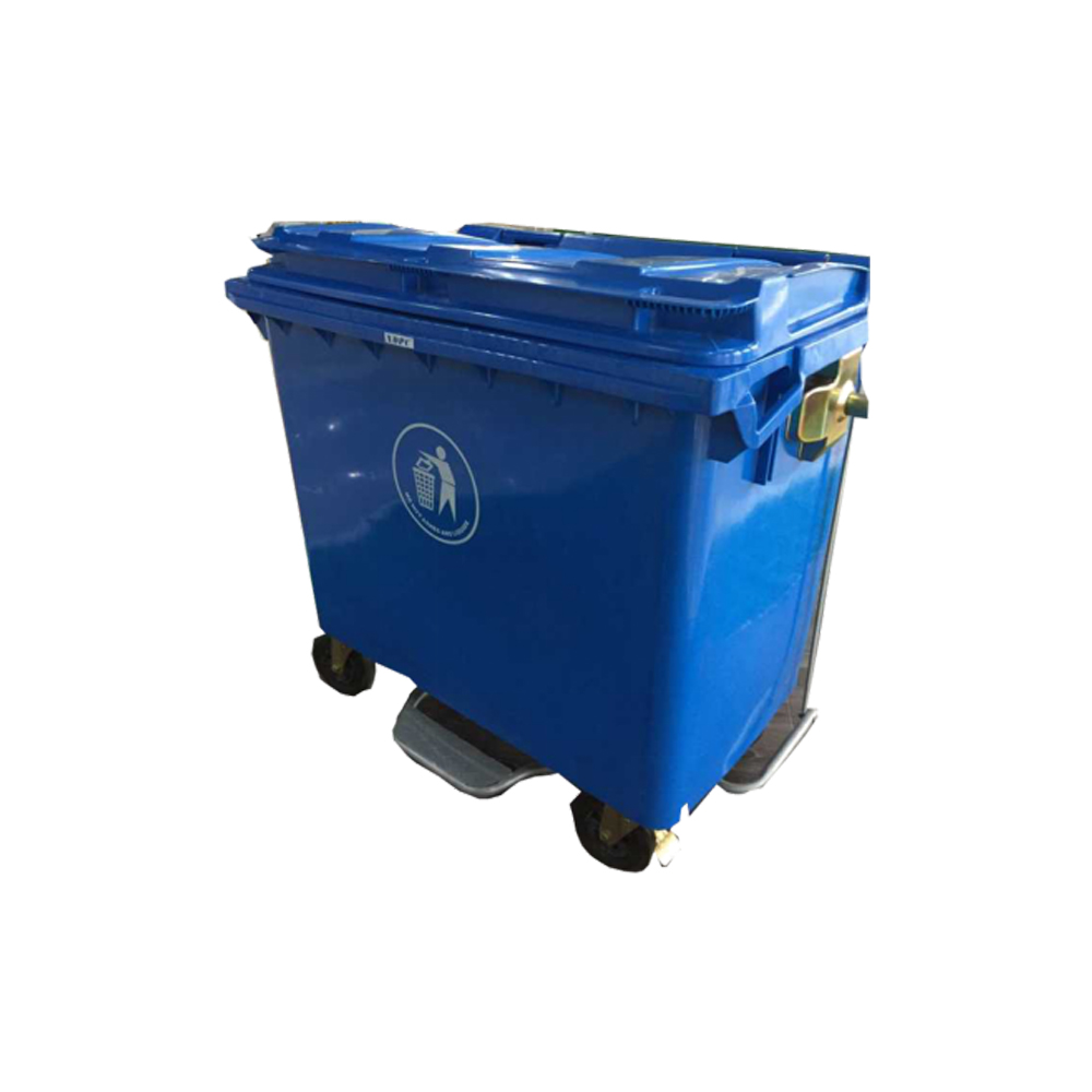 660L PE Outdoor Recycling Trash Can
