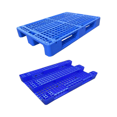 1200*800 Three Runners Single Faced Euro Storage Plastic Pallet