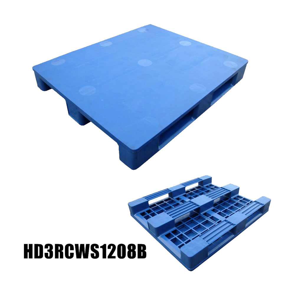 1200*800 Three Runners Close Deck Durable Heavy Duty Plastic Pallets