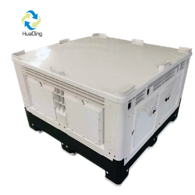 Foldable Plastic Pallet Box Container with Lid