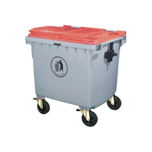Largest Trash Can Outdoor Plastic 1100L Garbage Can