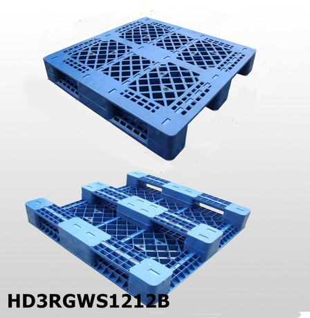 1200*1200 Three Runners Grid Deck Hdpe Plastic Pallet