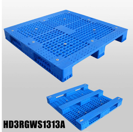 1300*1300 Three Runners Open Deck Steel Reinforced Plastic Pallet