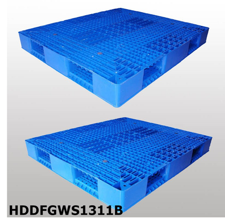Double-faced Stackable plastic pallet L1300*W1100*H150
